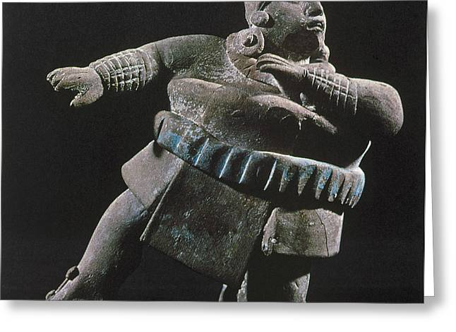 Native American Sculptures Photographs Greeting Cards - Mayan Athlete, 700-900 A.d Greeting Card by Granger