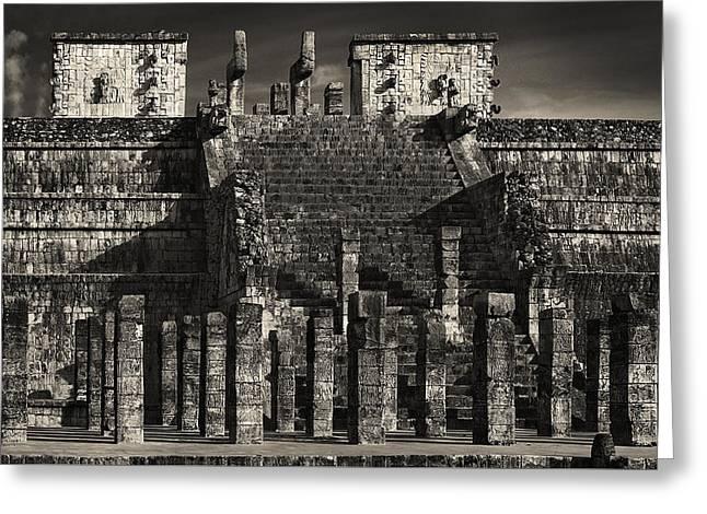 Civilization Greeting Cards - Mayan Legos Greeting Card by Joseph Yvon Cote