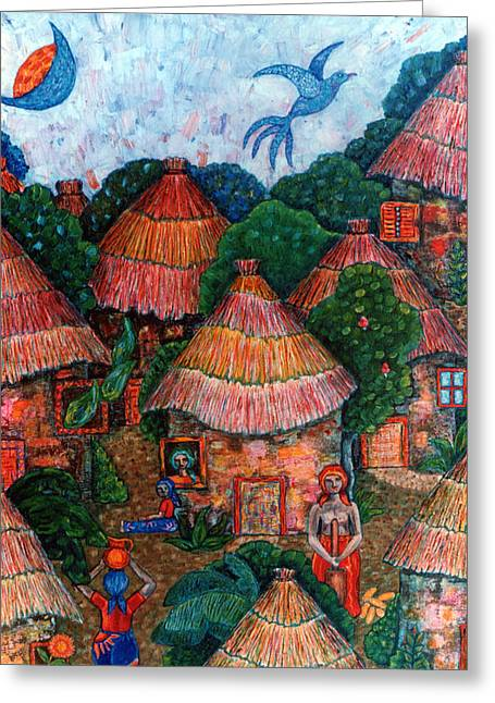 Madalena Lobao-tello Greeting Cards - Maybe that was my country Greeting Card by Madalena Lobao-Tello