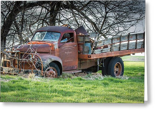 Mayfield Greeting Cards - Mayfield Kansas Truck Greeting Card by Larry Pacey