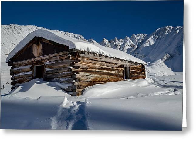 Rocks Greeting Cards - Mayflower Gulch Cabin Greeting Card by Michael J Bauer