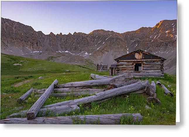 Mountain Cabin Greeting Cards - Mayflower Homestead Greeting Card by Darren  White