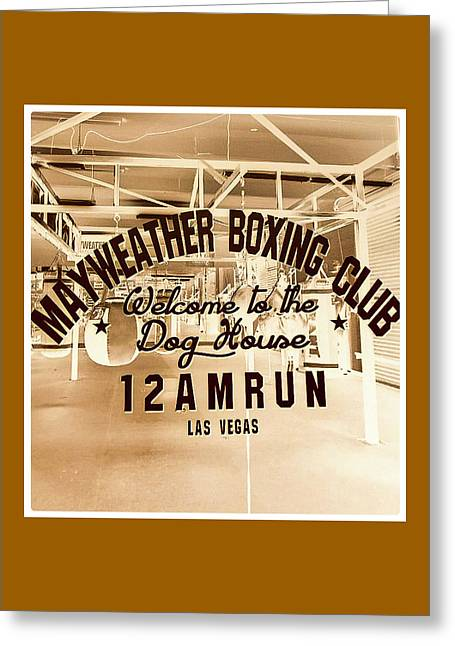 Mayweather Boxing Club Greeting Card by Shirley Anderson