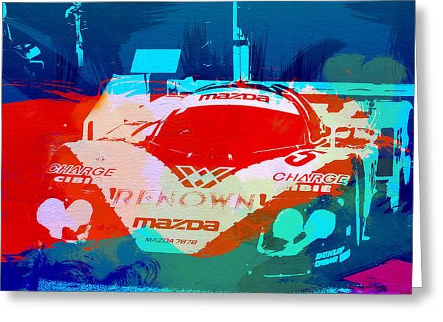 Mazda Le Mans Greeting Card by Naxart Studio