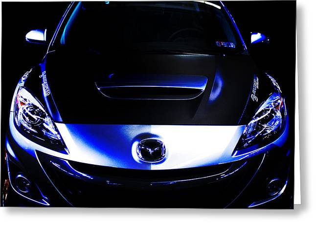 Mazda Greeting Cards - MazdaSpeed 3 Greeting Card by Bryant Luchs