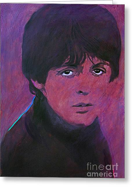 Invasion Greeting Cards - McCartney Greeting Card by David Lloyd Glover