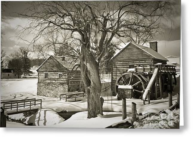 Rockbridge County Greeting Cards - McCormicks Farm In Winter Greeting Card by Kathy Jennings
