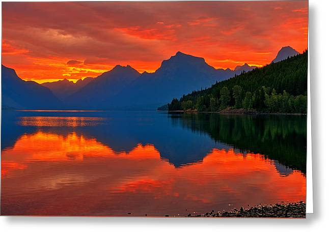 Mcdonald Sunrise Greeting Card by Greg Norrell