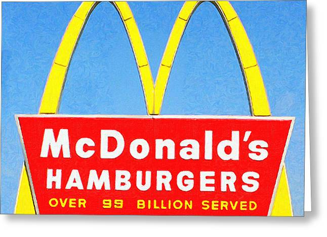 McDonalds Hamburgers . Over 99 Billion Served Greeting Card by Wingsdomain Art and Photography