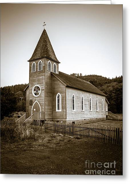 Christian Bale Greeting Cards - McGowan Church Greeting Card by Robert Bales