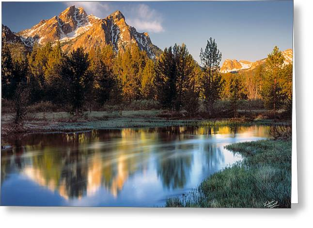 Mcgown Peak Sunrise  Greeting Card by Leland D Howard