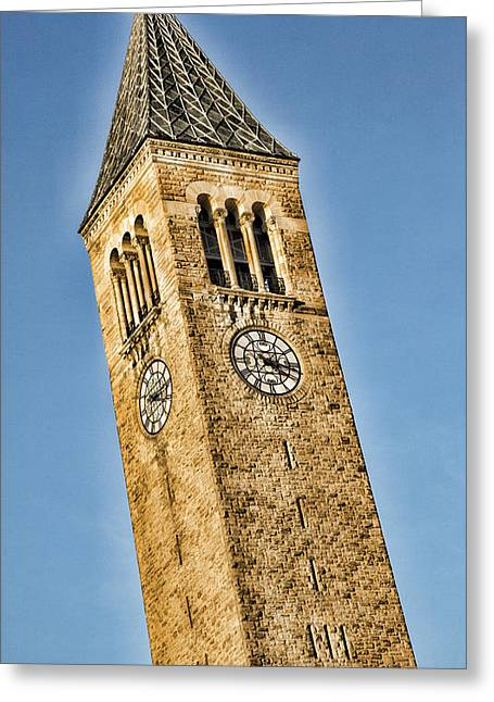 Mcgraw Tower Greeting Card by Stephen Stookey