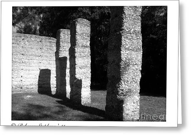 Georgia Greeting Cards - McIntosh Sugar Mill Tabby Ruin Pillars Greeting Card by Rebecca  Stephens