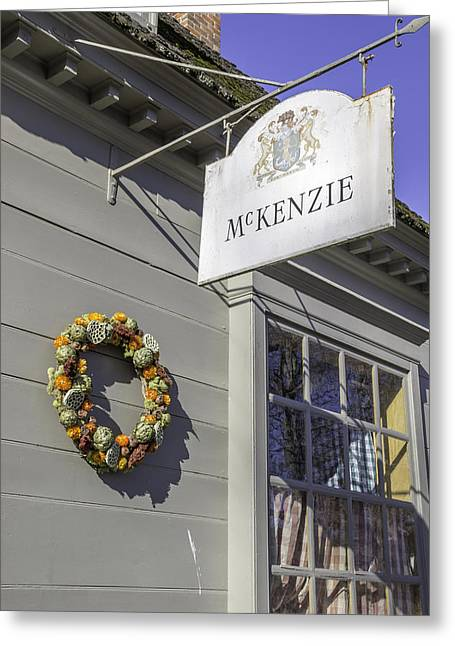 Mckenzie Apothecary Christmas 2014 Greeting Card by Teresa Mucha
