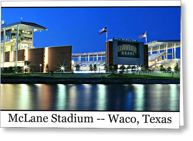 Em Greeting Cards - McLane Stadium Print Greeting Card by Stephen Stookey