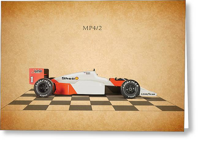 Formula 1 Greeting Cards - Mclaren MP4 1984 Greeting Card by Mark Rogan