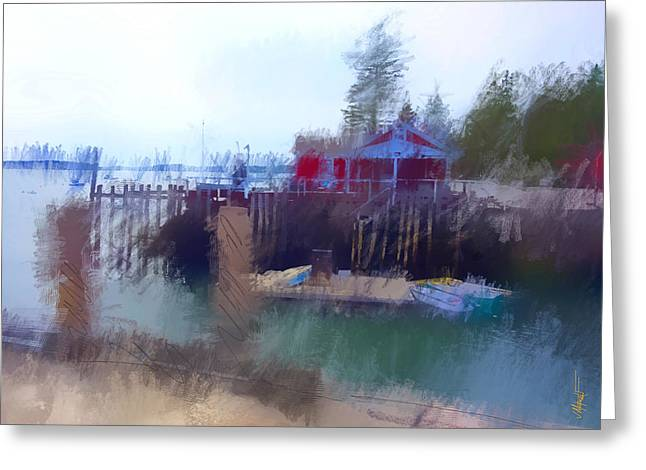 New England Ocean Greeting Cards - McLoons Pier Greeting Card by James Metcalf