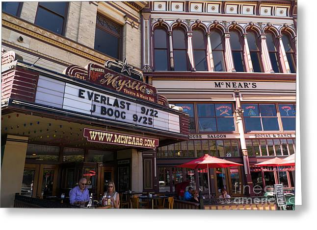Mcnears Mystic Theatre And Music Hall In Petaluma California Usa Dsc3748 Greeting Card by Wingsdomain Art and Photography