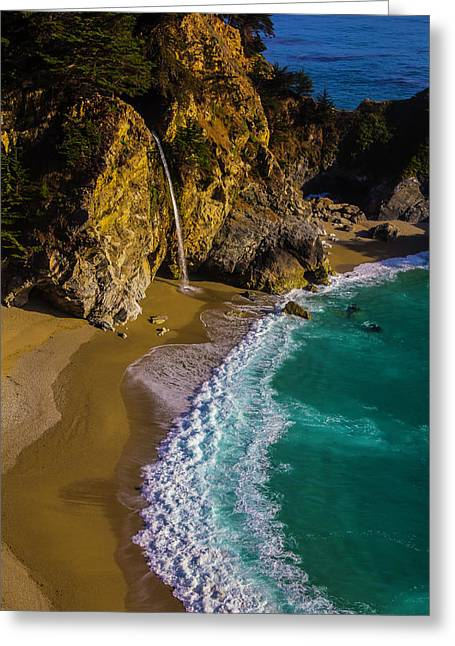 Mcway Cove Beach Greeting Card by Garry Gay