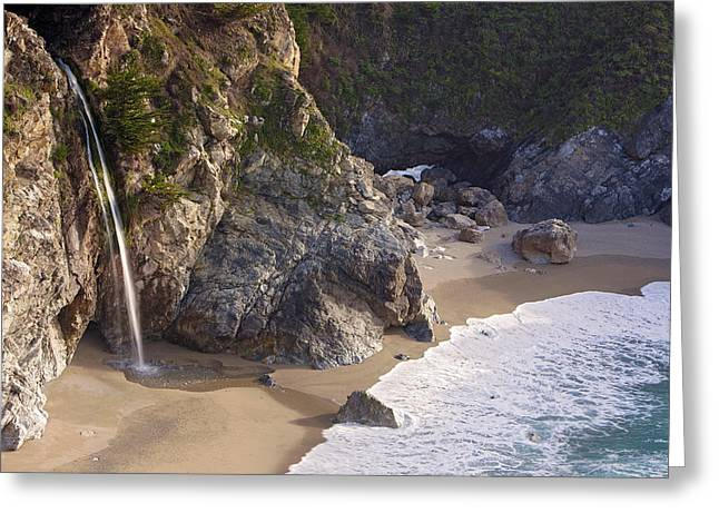 Best Sellers -  - Pfeiffer Beach Greeting Cards - McWay Creek Falls Greeting Card by Ian Frazier