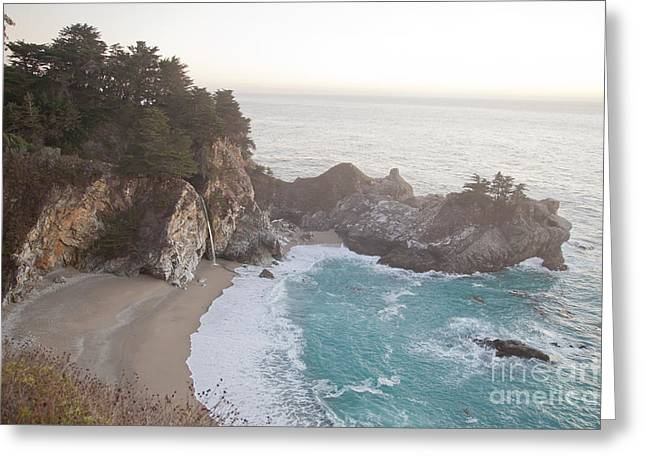 Big Sur Beach Greeting Cards - McWay Falls at Julia Pfeiffer Burns State Park  Greeting Card by Dragan Jovanovic