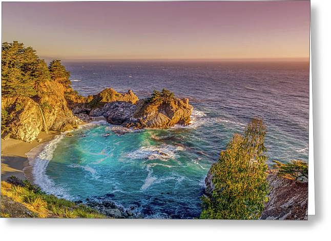 Mcway Falls Big Sur California Greeting Card by Scott McGuire