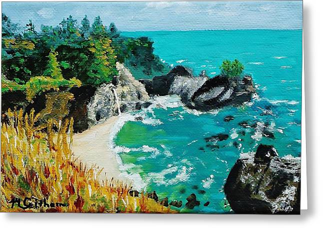 Big Sur Greeting Cards - McWay Falls  Big Sur Greeting Card by Mike Caitham