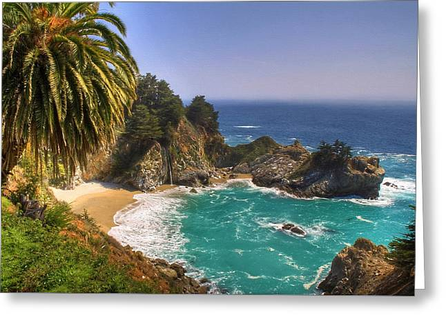 Mcway Falls Greeting Card by Donna Kennedy