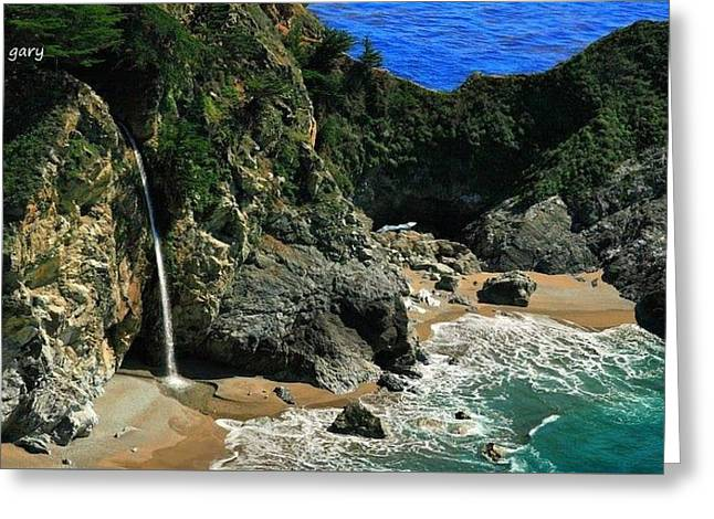 Big Sur Greeting Cards - McWay Falls Greeting Card by Gary Roy