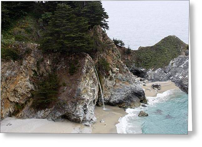 Big Sur Greeting Cards - McWay Falls in Big Sur Greeting Card by Patricia  Wensel