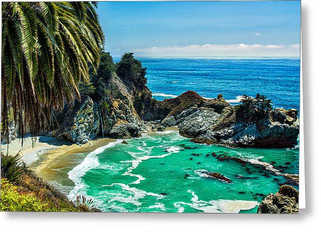Big Sur Greeting Cards - McWay Falls Greeting Card by Paul Sommers