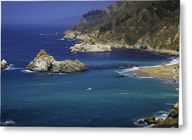 Big Sur Beach Greeting Cards - McWay Rocks Greeting Card by Steve LLamb