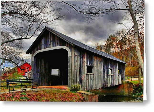 Grafton Vermont Greeting Cards - McWilliam Covered Bridge Greeting Card by DJ Florek