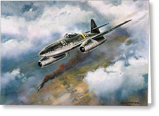 Fighters Greeting Cards - me - 262 Greeting Card by Colin Parker