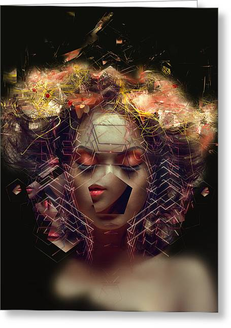 I Greeting Cards - Me Inside of Me Greeting Card by Bojan Jevtic