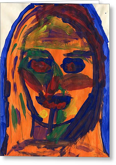 Self-portrait Greeting Cards - Me Greeting Card by Jesse  Gemmell