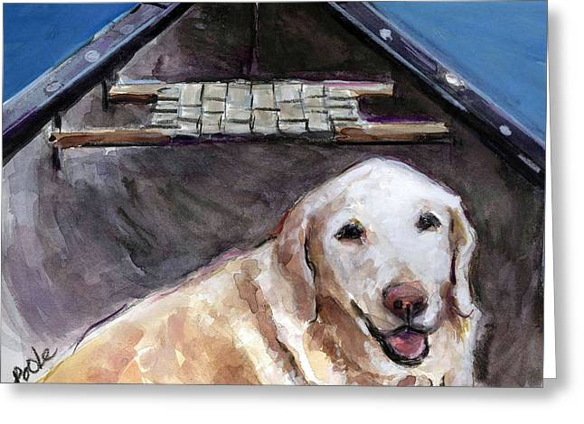 Senior Dog Greeting Cards - Me You Canoe Greeting Card by Molly Poole