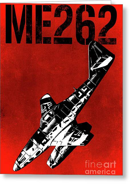 Me262 Greeting Card by Mark Fearon