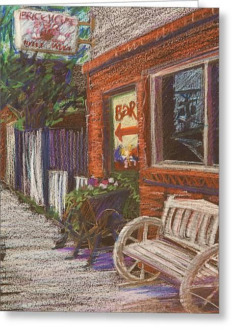 Small Towns Greeting Cards - Mead Cafe Greeting Card by Athena  Mantle