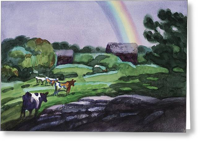 Meadow After The Rain Greeting Card by Robert McIntosh