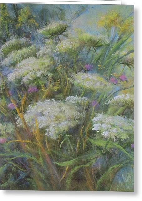 Queen Pastels Greeting Cards - Meadow Bouquet Greeting Card by Bill Puglisi