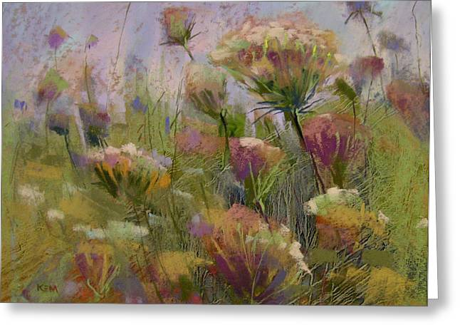 Queen Pastels Greeting Cards - Meadow Dance Greeting Card by Karen Margulis