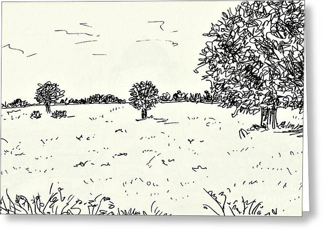 Meadow Near Woerlitz Greeting Card by Chani Demuijlder