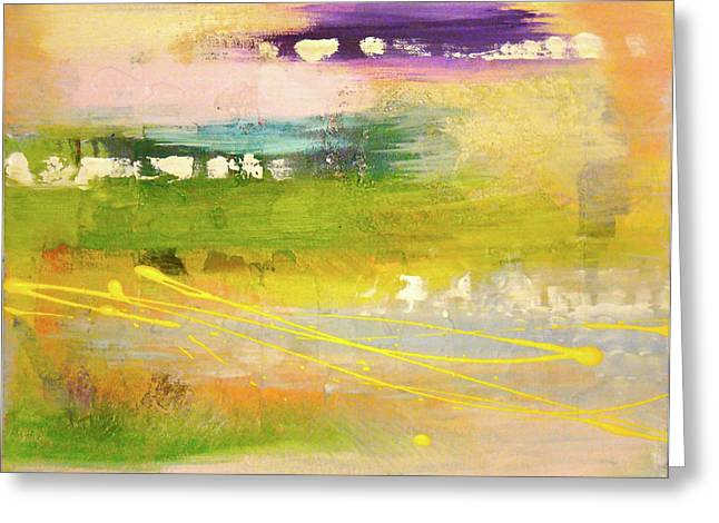Synesthesia Greeting Cards - Meadow of the Heart Greeting Card by Melody Dawn Germain