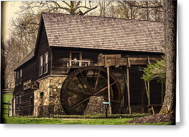 18th Century Greeting Cards - Meadow Run Grist Mill Greeting Card by B Wayne Mullins