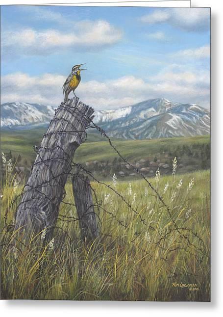 Meadowlark Serenade Greeting Card by Kim Lockman