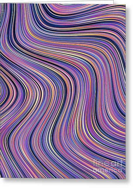 Fold Greeting Cards - Meandering Greeting Card by John Edwards