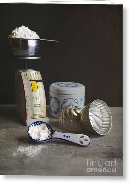 Flour Greeting Cards - Measure Twice Greeting Card by Elena Nosyreva