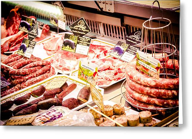 Grocery Store Greeting Cards - Meat Market Greeting Card by Jason Smith