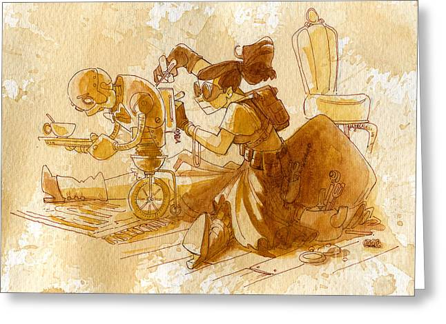 Mechanic Greeting Card by Brian Kesinger